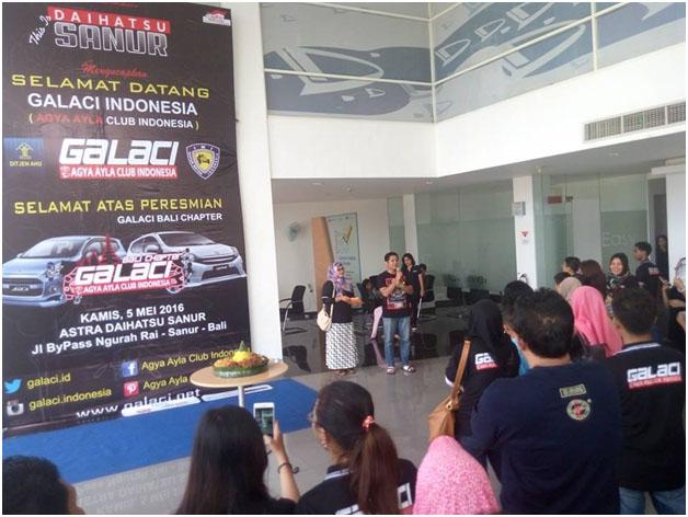 Sambutan oleh Pak Gatot, perwakilan dari Daihatsu Sanur Bali.